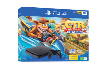 Sony PlayStation 4 Slim Console 1TB with Crash Team Racing Bundle (Black)