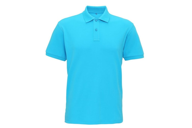Asquith & Fox Mens Super Smooth Knit Polo Shirt (Turquoise) (2XL)