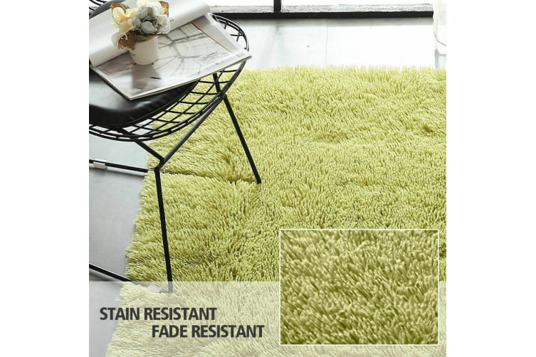 New Designer Shag Shaggy Floor Confetti Rug Carpet ALL SIZE Home Decor AU Stock  -  Grey 200x300cm