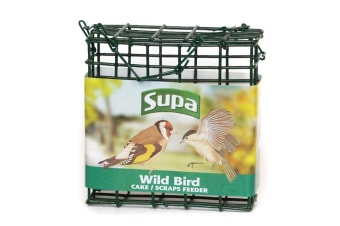 Supa Wild Bird Suet Block Feeder (Green) (One Size)
