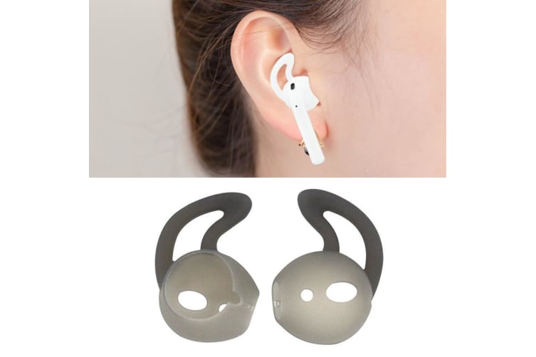 For Apple Airpods Grey Silicone Ear Caps with Precise Opening