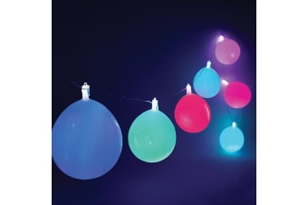 Flashing Colour-Changing Reusable Party Balloon String Lights 4m