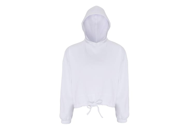 TriDri Womens/Ladies Cropped Oversize Hoodie (White) (L/XL)