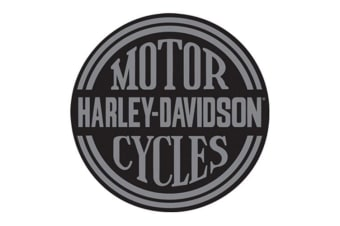 Harley Davidson Die Cut Embossed Tin Sign - Platinum Disc