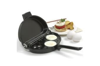 Omelette Pan With 3-egg Poacher - Includes 3 Removable Nonstick Egg Poachers
