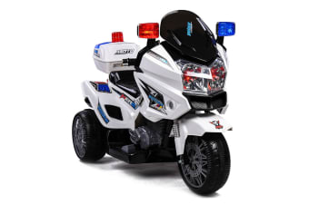 ROVO KIDS Electric Ride-On Patrol Motorbike S1K-Inspired Battery Police Toy Bike