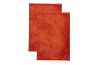Pack of 2 Awesome Shag Rugs Orange