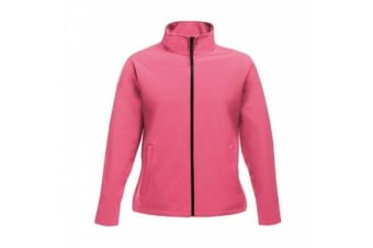Regatta Womens/Ladies Ablaze Printable Softshell Jacket (Hot Pink/Black) (10 UK)