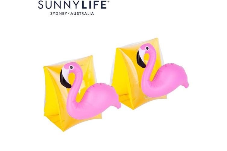 NEW Sunnylife Inflatable Pool Toy Kids Arm Bands Flamingo