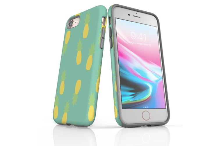 For iPhone 8 Shielding Back Case  Pastel Pineapple