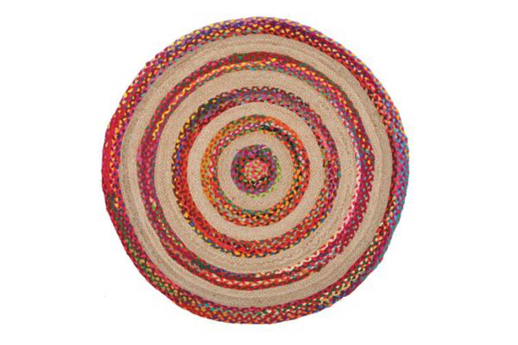 April Target Cotton and Jute Rug Multi 150x150cm
