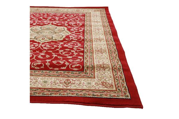 Medallion Classic Pattern Rug Red 290x200cm
