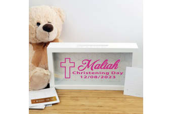 Personalised Christening Message Box Guest Book