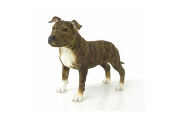 Staffordshire Bull Terrier Dog Figurine (Dark Brown)