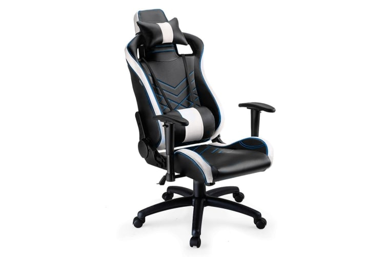 Overdrive Gaming Chair Office Computer Racing PU Leather Executive Race Black