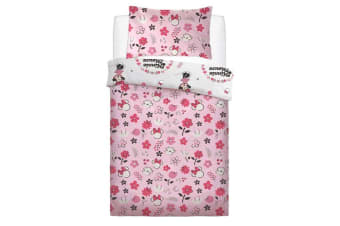 Minnie Mouse Floral Wink Duvet Set (Pink) (Single)