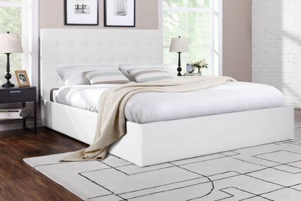 Ovela  Bed Frame - Symphony Collection (White, Double)