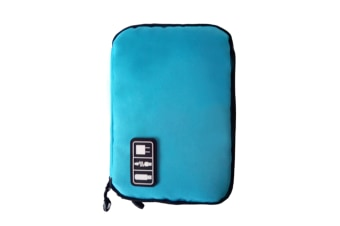 Electronics Accessories Case USB Drive Shuttle-an All in One Travel Organizer Blue
