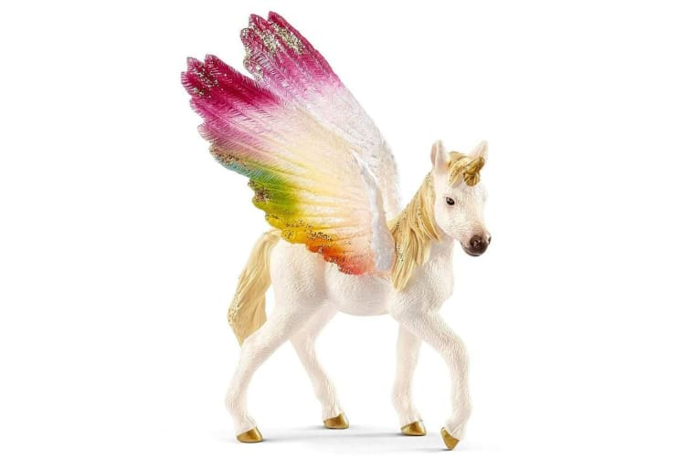 Schleich Bayala Winged Rainbow Unicorn Foal Toy Figure