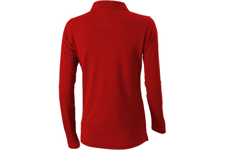 Elevate Oakville Long Sleeve Ladies Polo Shirt (Red) (XXL)