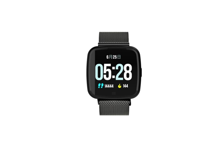 G12 Smart Watch Call Reminder Heart Rate Measurement With Bluetooth Watch Black Steel