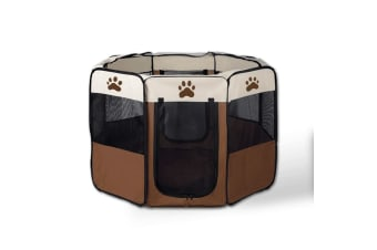 8 Panel Portable Puppy Dog Pet Exercise Playpen Crate Medium