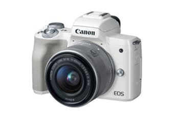 New Canon EOS M50 Kit (15-45mm) Digital Cameras White (FREE DELIVERY + 1 YEAR AU WARRANTY)