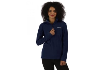 Regatta Great Outdoors Womens/Ladies Sweetheart 1/4 Zip Fleece Top (Navy) (16)