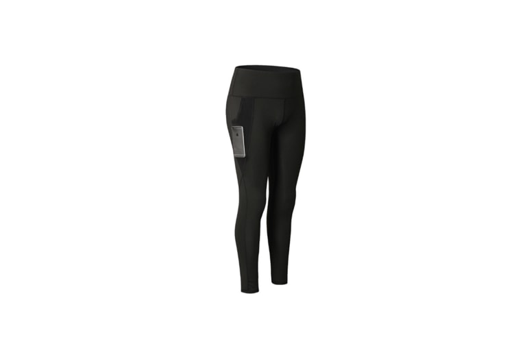 Women Sports Trouser Gym Workout Fitness Yoga Pant Legging With Side Pocket - Black Black M