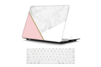 "Marble Frosted Matte Hard Case with Free Keyboard Cover for MacBook Pro 13"" 2016-2018 A1708(no Touch Bar)-Tri-Colored Marble"