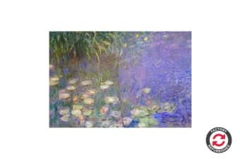 Refurbished Waterlillies by Monet Canvas (90cm x 59cm)