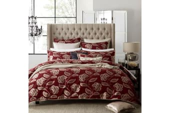 Paddington Red Quilt Cover Set Queen by Private Collection