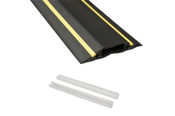 D-Line FC83H Medium Duty Floor Cable Cover with Hazard Strip 1.8m Length Floor Cable and Cord