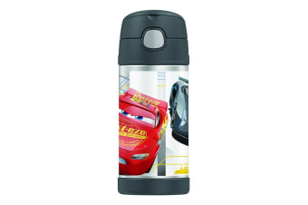Thermos FUNtainer Stainless Steel Vacuum Insulated Drink Bottle Disney Cars 3 355ml