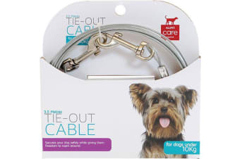 Tie Out Pet Cable Dogs Under 10kg - 3.5 Metres Long (All Pet)