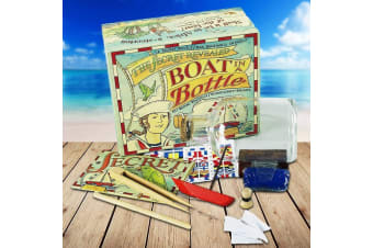 Build Your Own Boat In A Bottle – Model Kit Kids Children Build Create Craft Pirate Sea Sailing Sailor