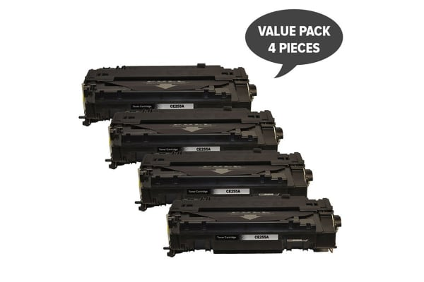 CE255A #55A Black Compatible Laser Toner (Four Pack)