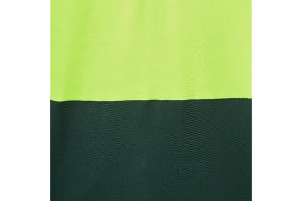 Hard Yakka High Visibility Two-Tone Long Sleeve Ventilated Polo Top (Yellow/Green, Size 2XL)