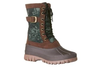 Rojo Women's Snow Side Tracked Boots Size 7/38