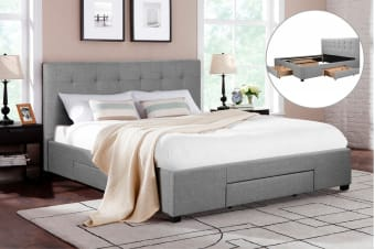 Shangri-La Bed Frame - Manarola 3 Drawer Collection (Grey)