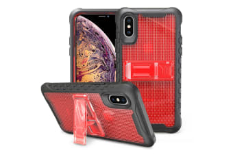 Red Honeycomb For iPhone XS MAX Case Armour Phone Cover KickStand