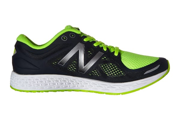 New Balance Men's Fresh Foam Zante v2 Running Shoes (Black/Green, Size 10.5)