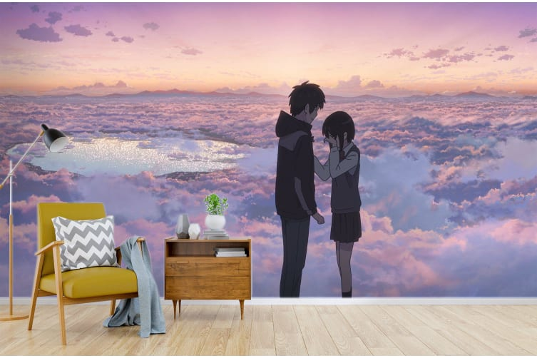 3D Your Name 074 Anime Wall Murals Woven paper (need glue), XXL 312cm x 219cm (WxH)(123''x87'')