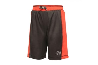 Regatta Childrens/Kids Drawstring Tokyo Short (Black/Classic Red) (11-12 Years)
