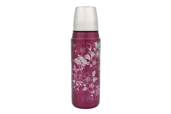 Thermos 480 ml Stainless Steel Vacuum Insulated Flask (Floral Magenta)