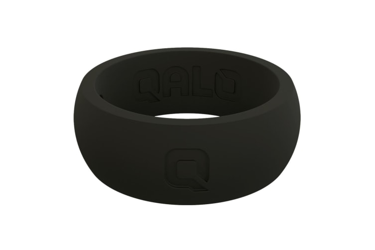 QALO Men's Q Black Q2X Ring Size 10