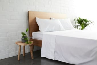 Jamie Durie By Ardor 225TC Bamboo & Cotton Sheet Set (White)