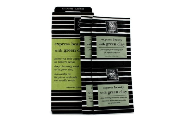 Apivita Express Beauty Deep Cleansing Mask with Green Clay (6x(2x8ml))