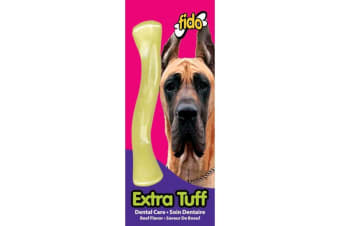 Extra Nylon Dog Tuff Bone - Beef Flavoured - Medium - 16cm - Fido