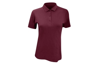 Anvil Womens/Ladies Double Pique Semi-Fitted Polo Shirt (Maroon)